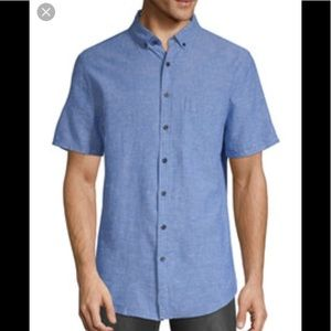 NWT Onia Vacation Shirt in Blue Linen